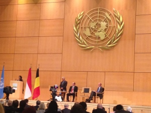 Climate talk at the UN Assembly Hall in Geneva