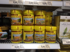 Swiss honey - 60% premium over what looks the same Italian honey