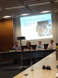 Marianne Fey and colleagues launching the policy paper in Geneva