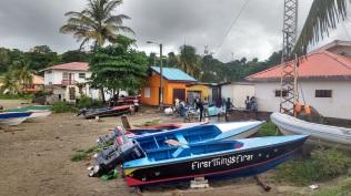 Fishermen's boat in Grenada